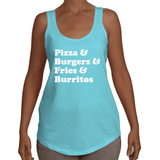 Junk Food Loose Fit Racerback Tank