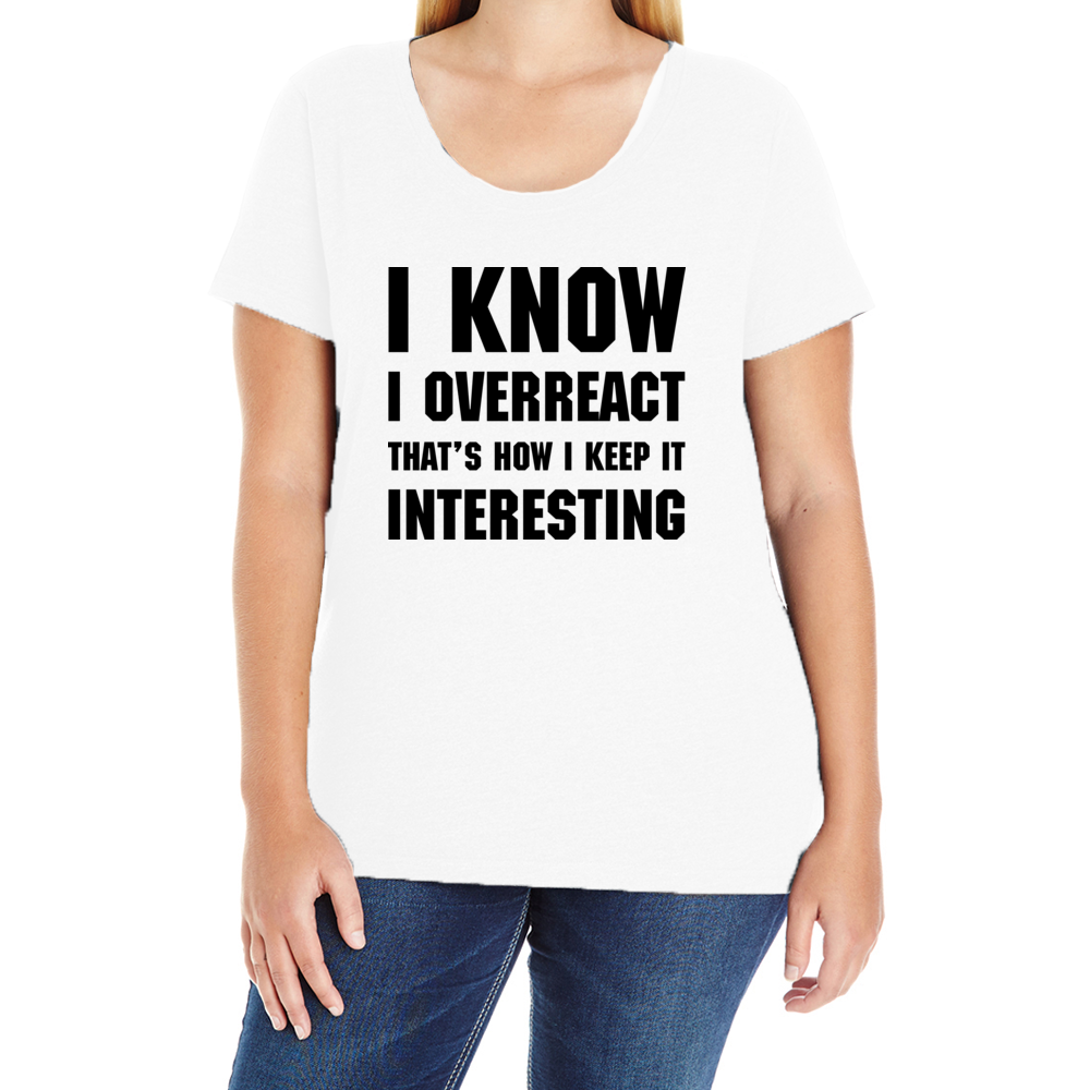 Overreact Women's Plus T-Shirt