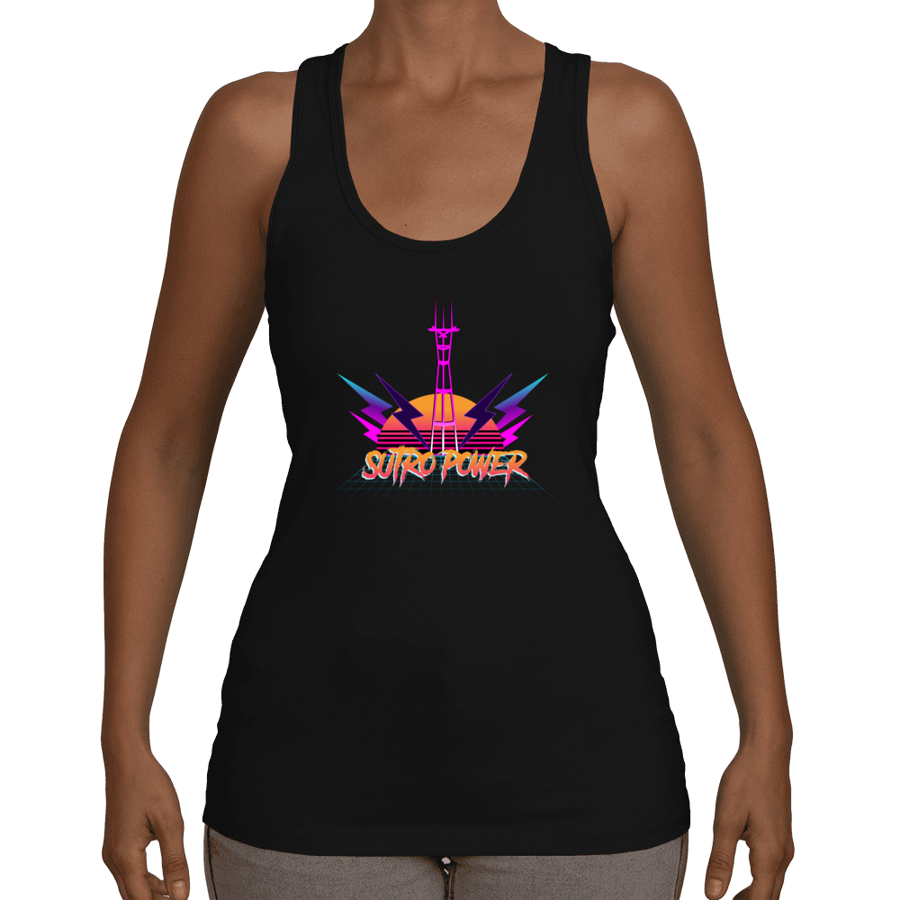Sutro Tower Ultra 80's San Francisco Racerback Tank Top