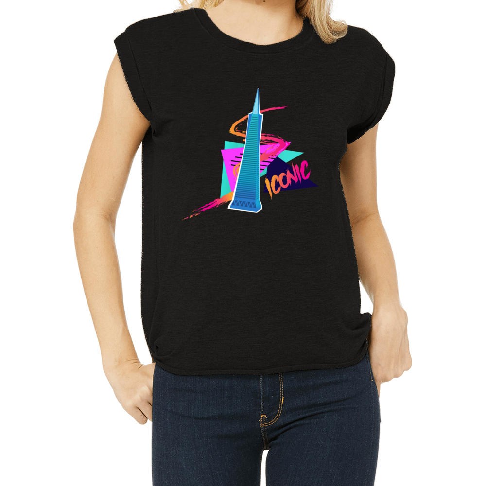 Transamerica Pyramid Ultra 80's San Francisco Women's Muscle Tee