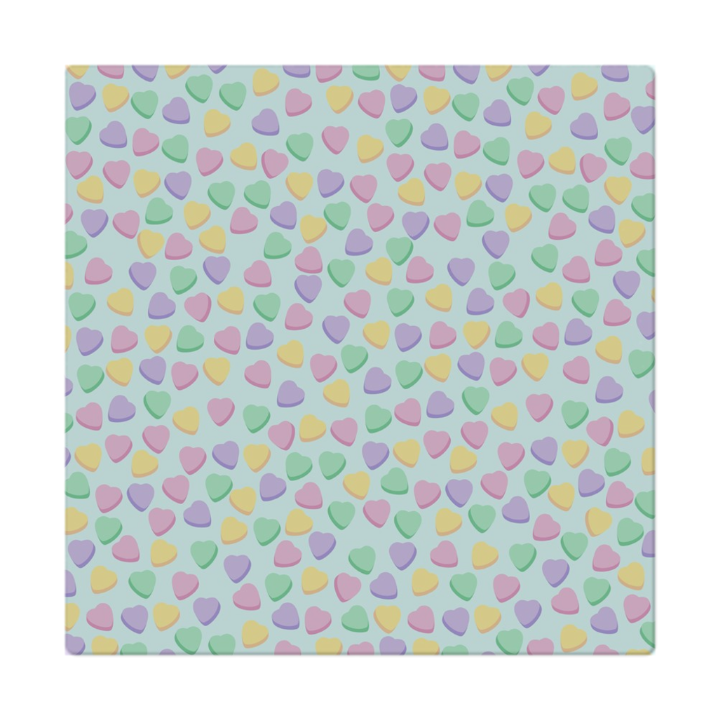 Candy Heart Sky Blue Square Cloth Napkin