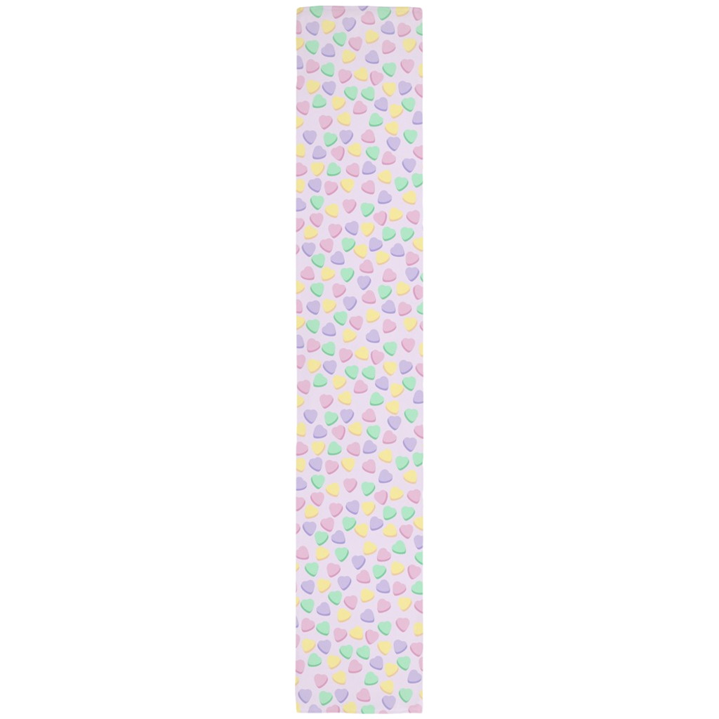 Candy Hearts Lilac Table Runner- 16 x 90 Inches
