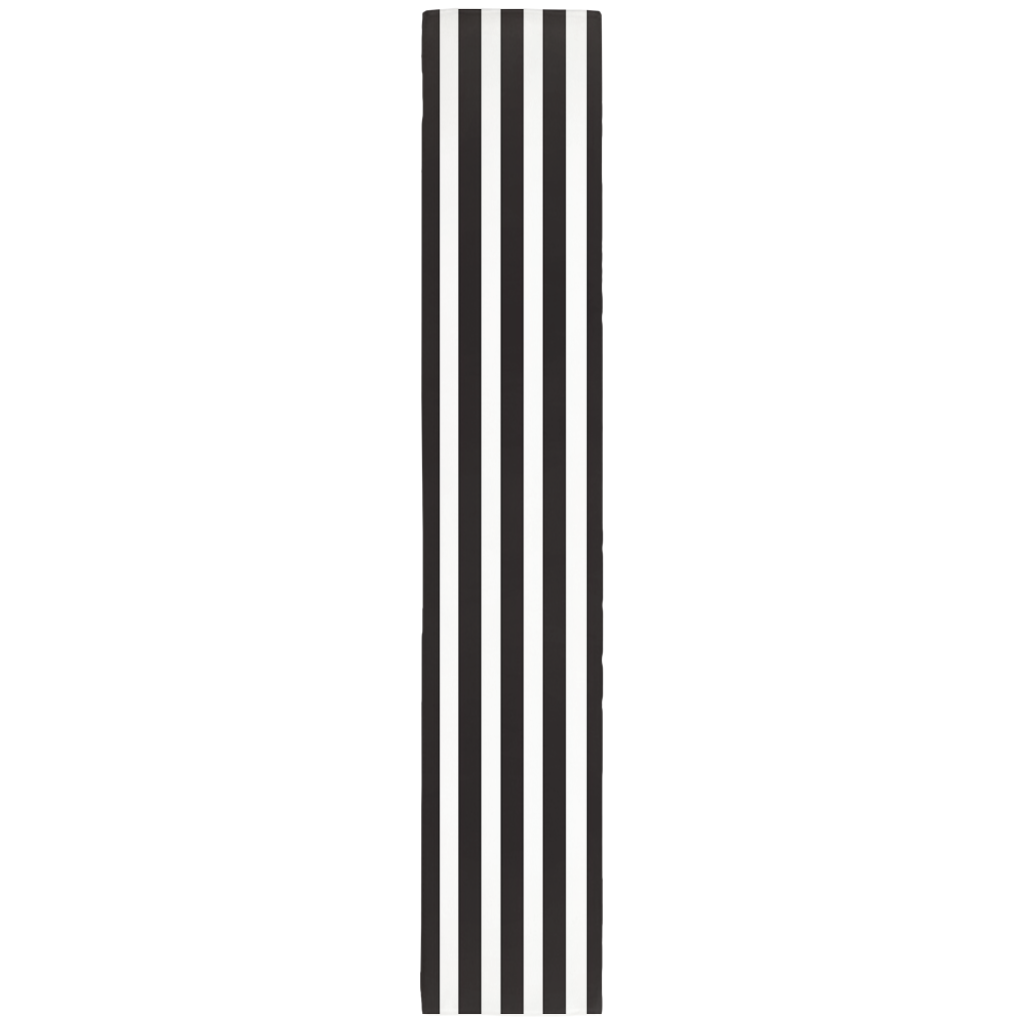 Mod Black and White Striped Table Runner
