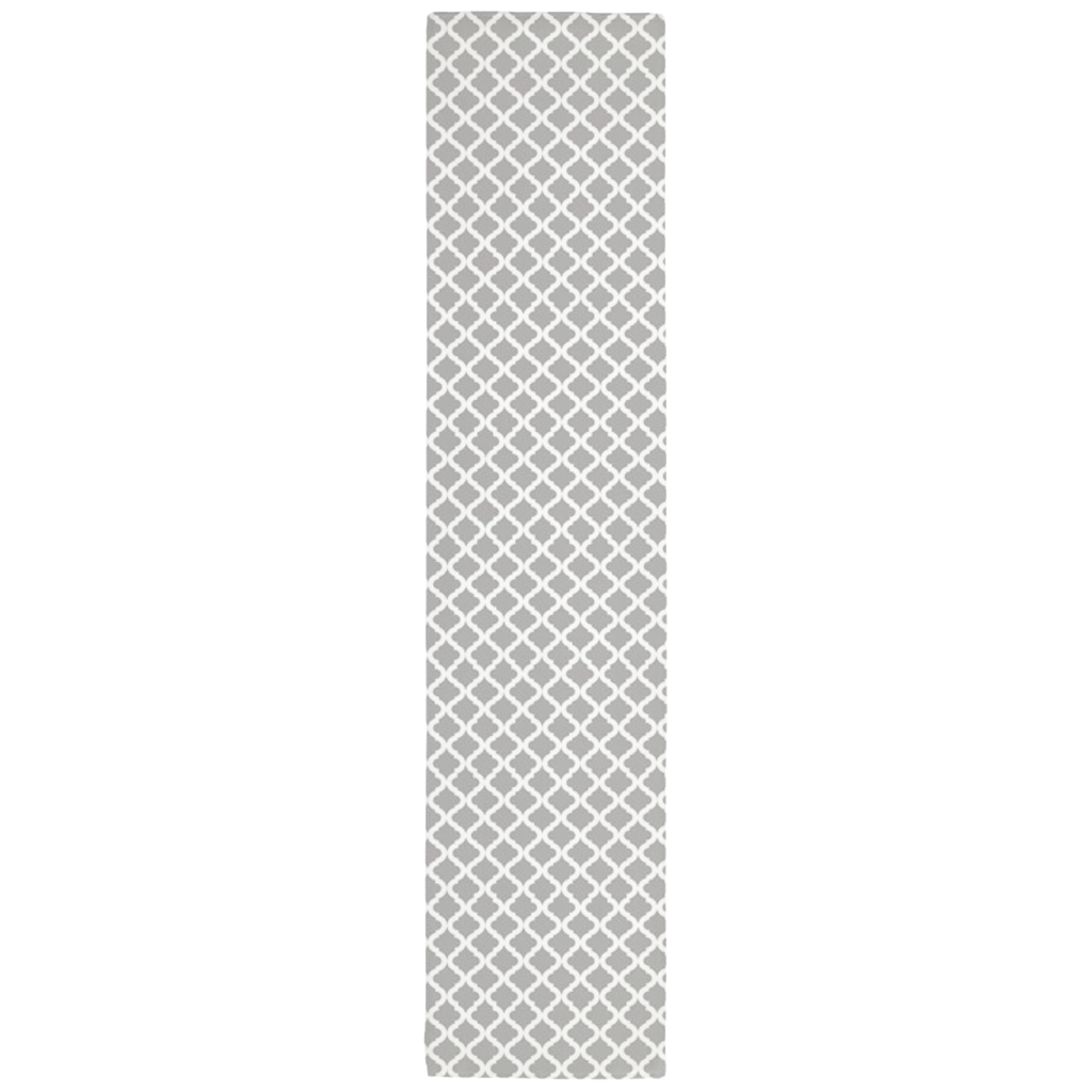 Lattice Table Runner in Gray