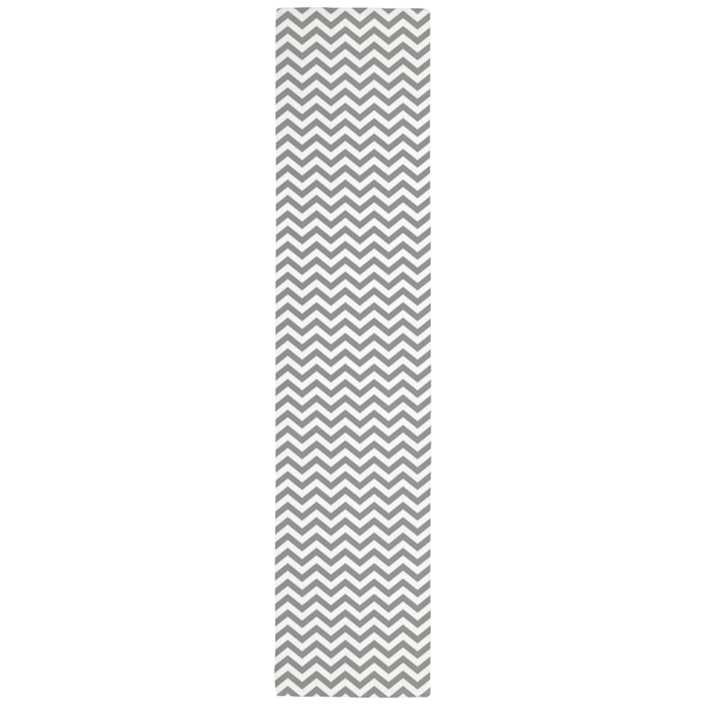 Chevron Table Runner in Gray