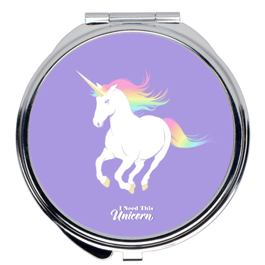 Rainbow Unicorn Compact Mirror