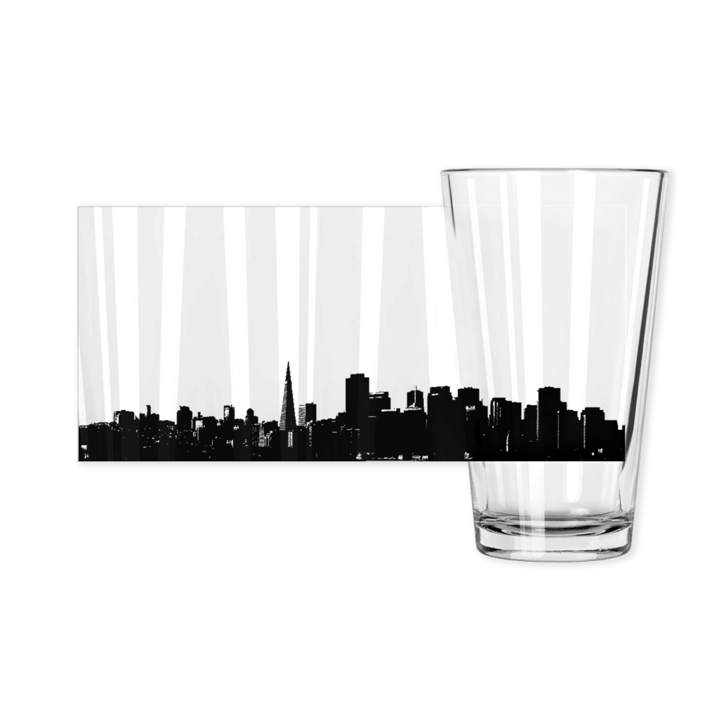 SF Skyline Pint Glass