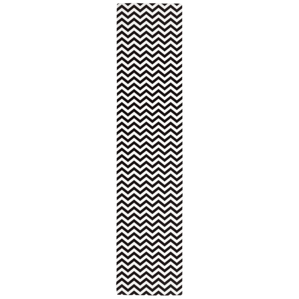 Chevron Table Runner in Black