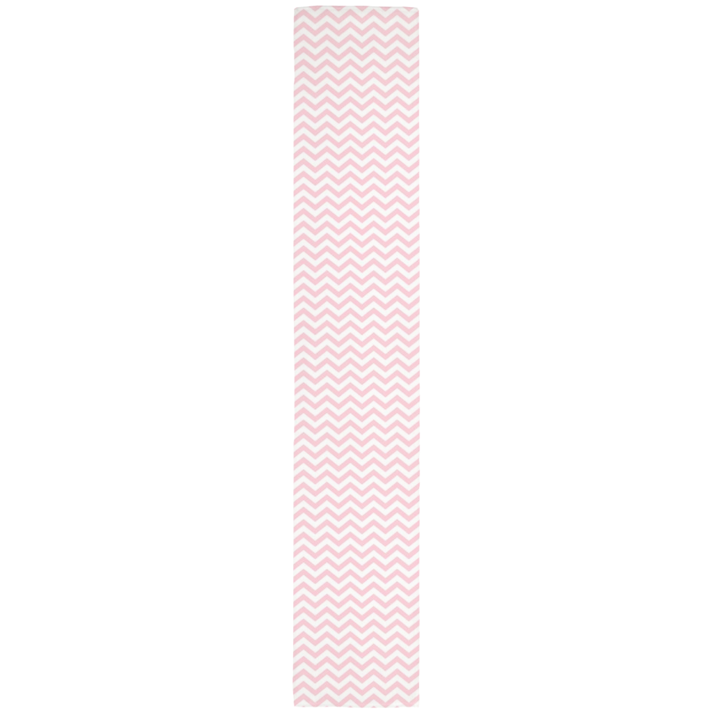 Chevron Table Runner in Baby Pink
