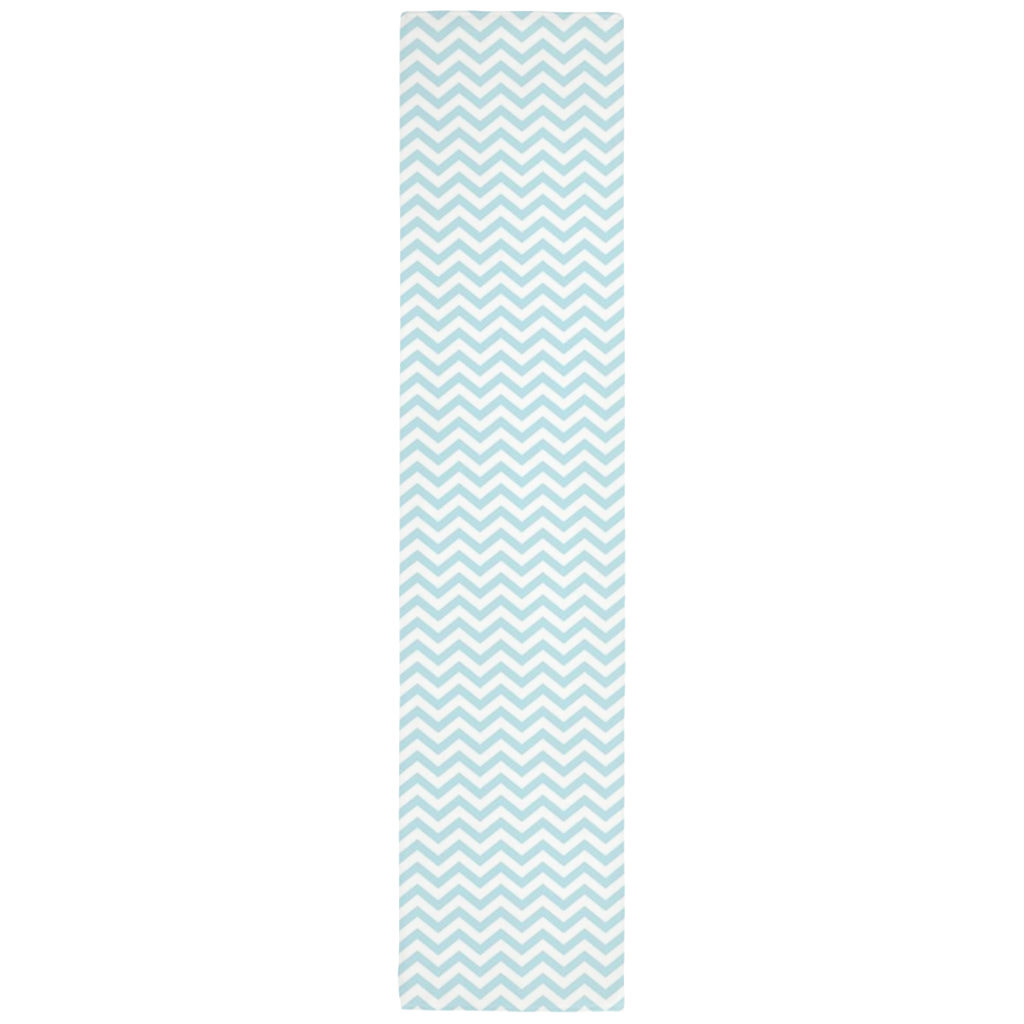 Chevron Table Runner in Baby Blue