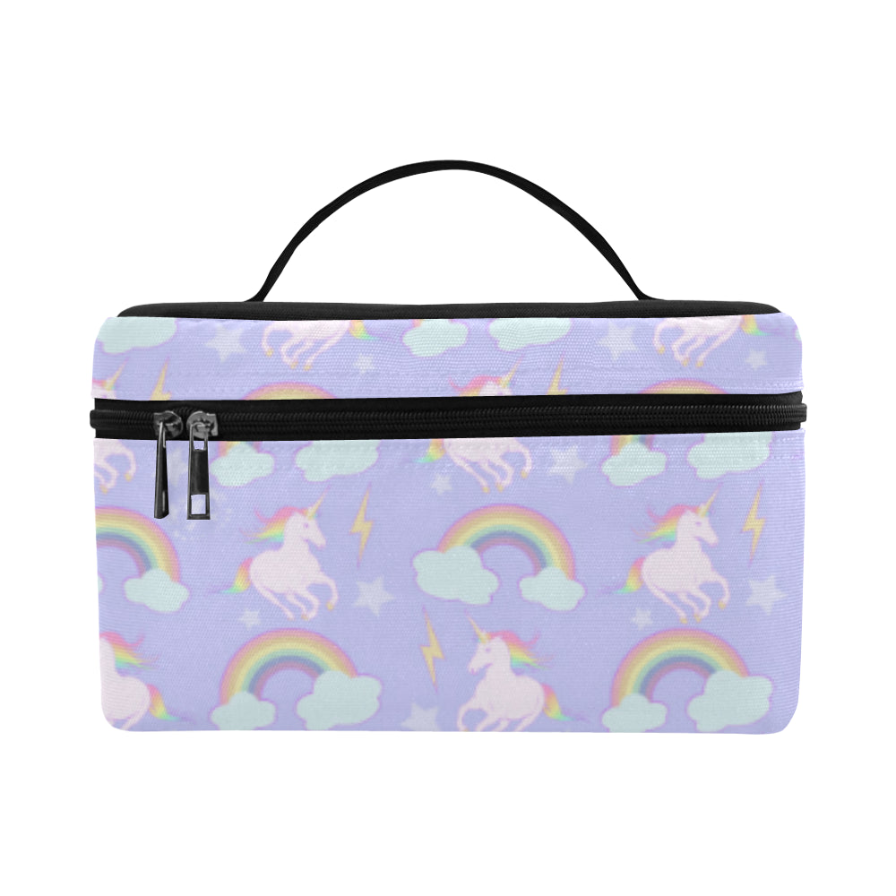 Unicorns and Rainbows Cosmetic Train Case