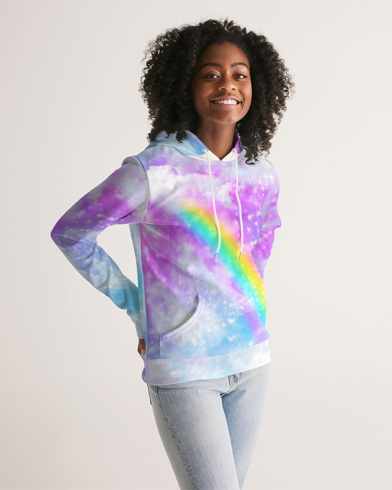 Pastel Galaxy with Rainbow Sublimation Women's Hoodie