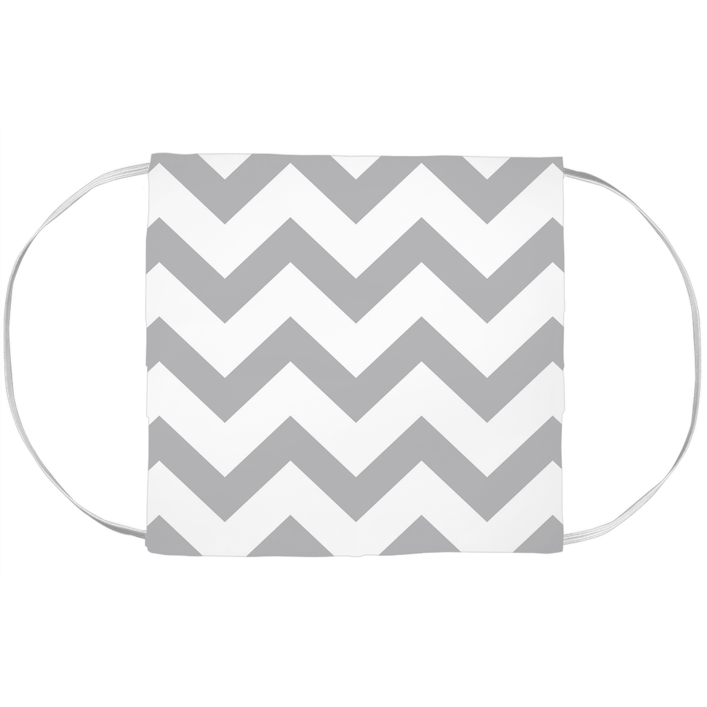 Gray Chevron Face Mask Cover