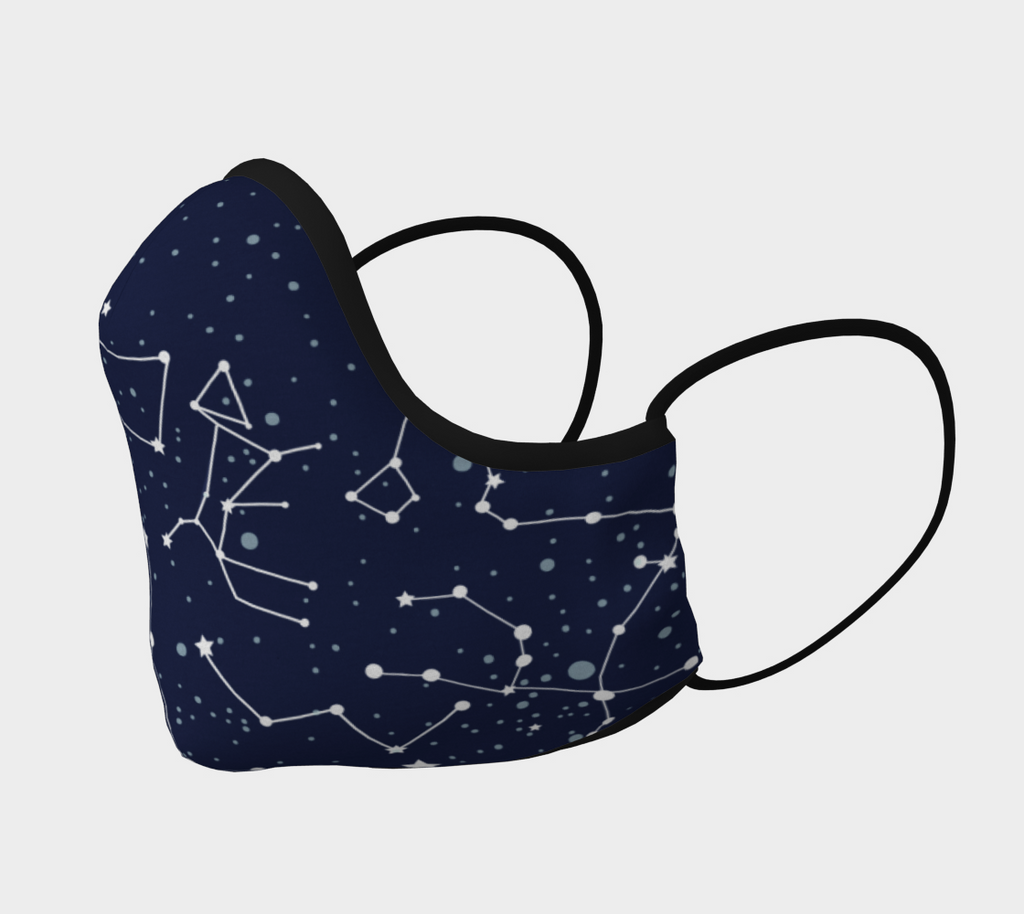 Navy Constellations Face Mask