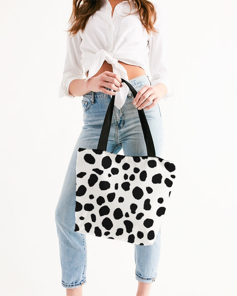 Dalmatian Canvas Zip Tote