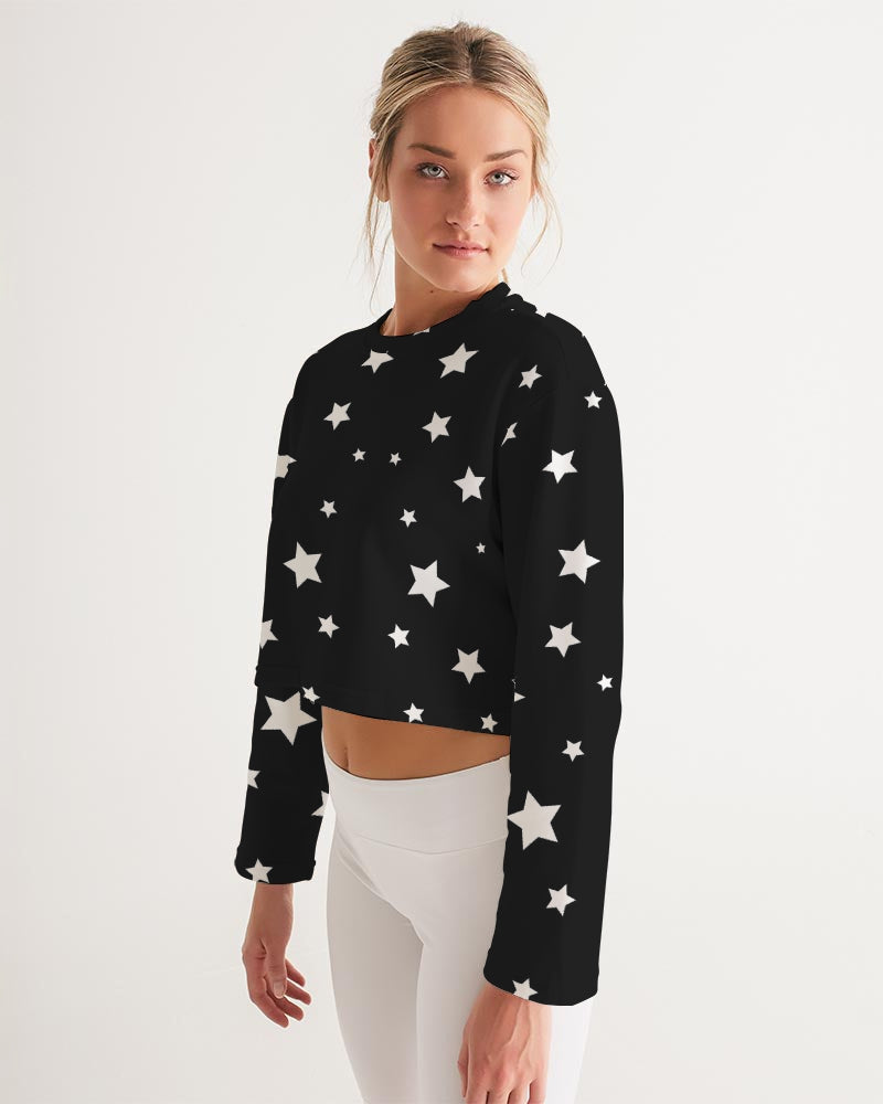 Starry Women's Cropped Sweatshirt