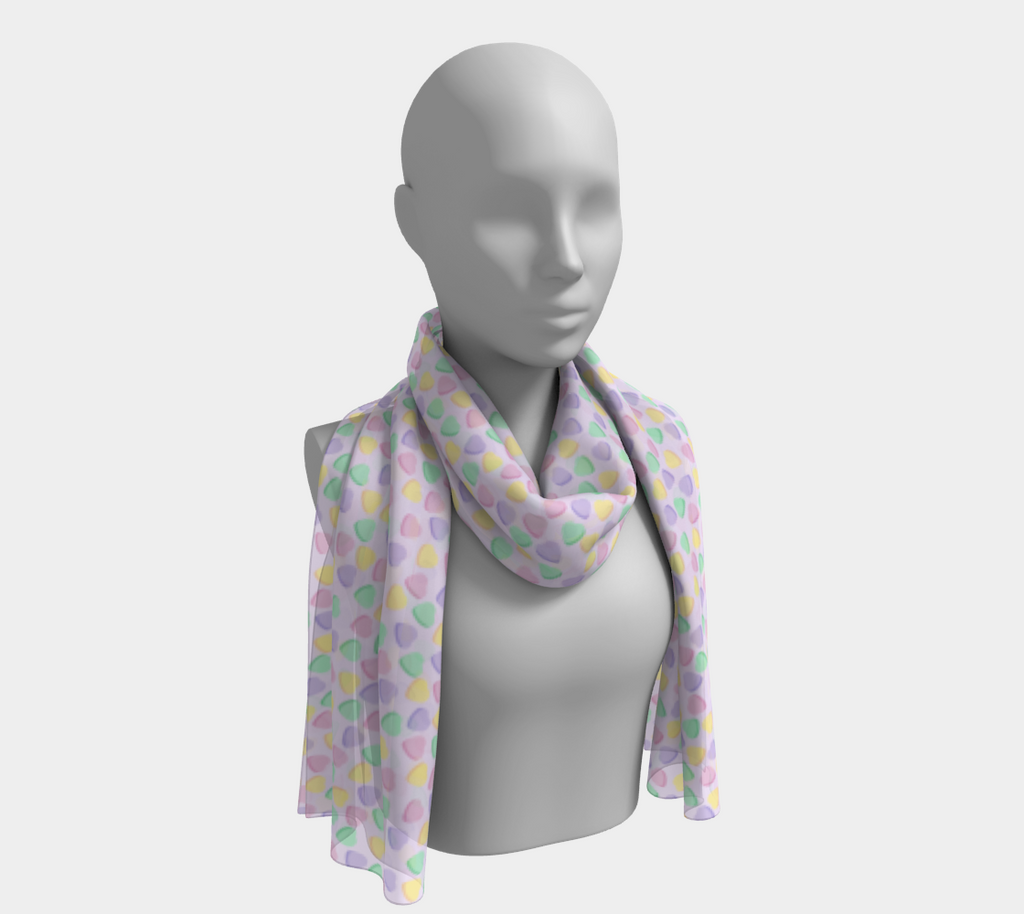 Candy Hearts Lilac Scarf