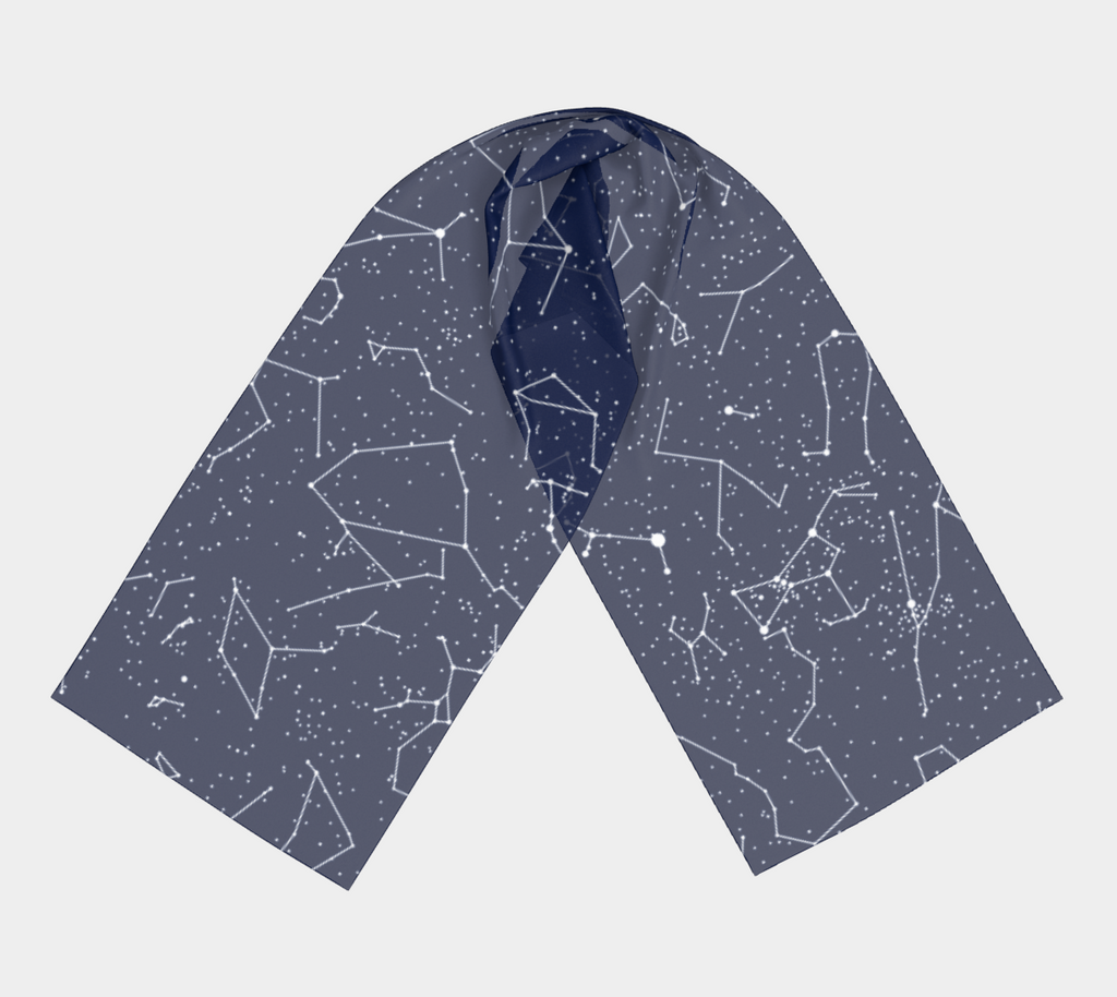 Constellations Long Scarf (Navy)