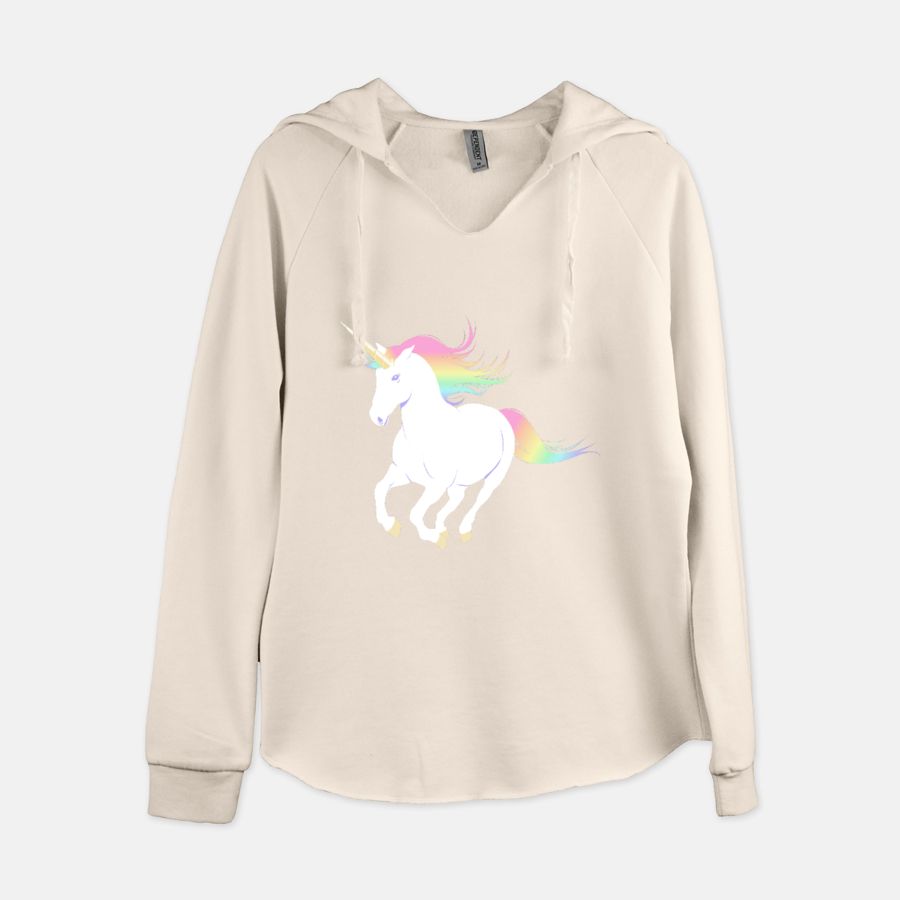 Rainbow Unicorn Women's Hooded Sweatshirt