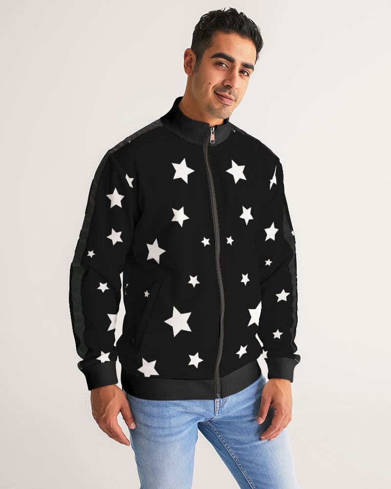 Starry Stripe-Sleeve Track Jacket