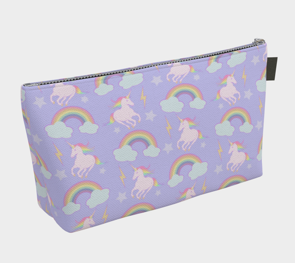 Unicorns & Rainbows Large Makeup Bag