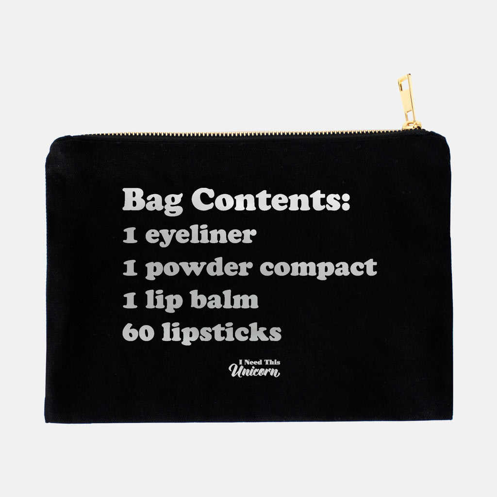 Cosmetic Bag Contents Foil Makeup Bag