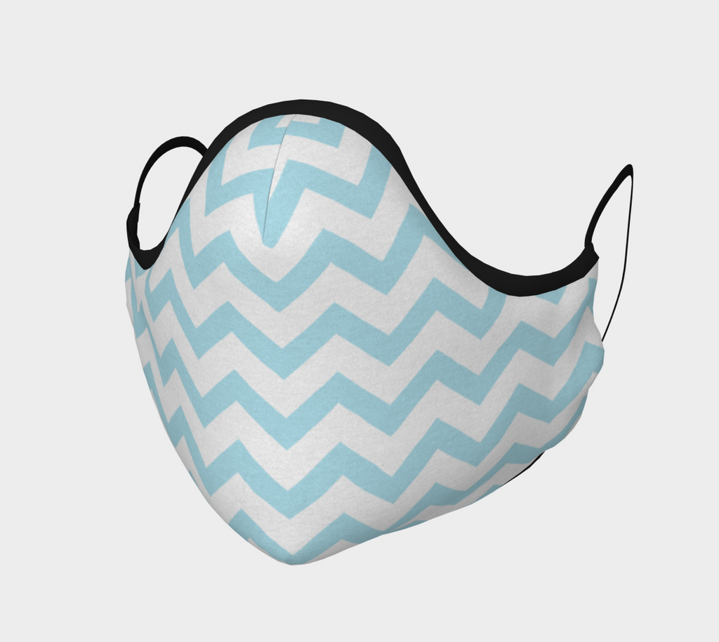 Baby Blue Chevron Face Mask
