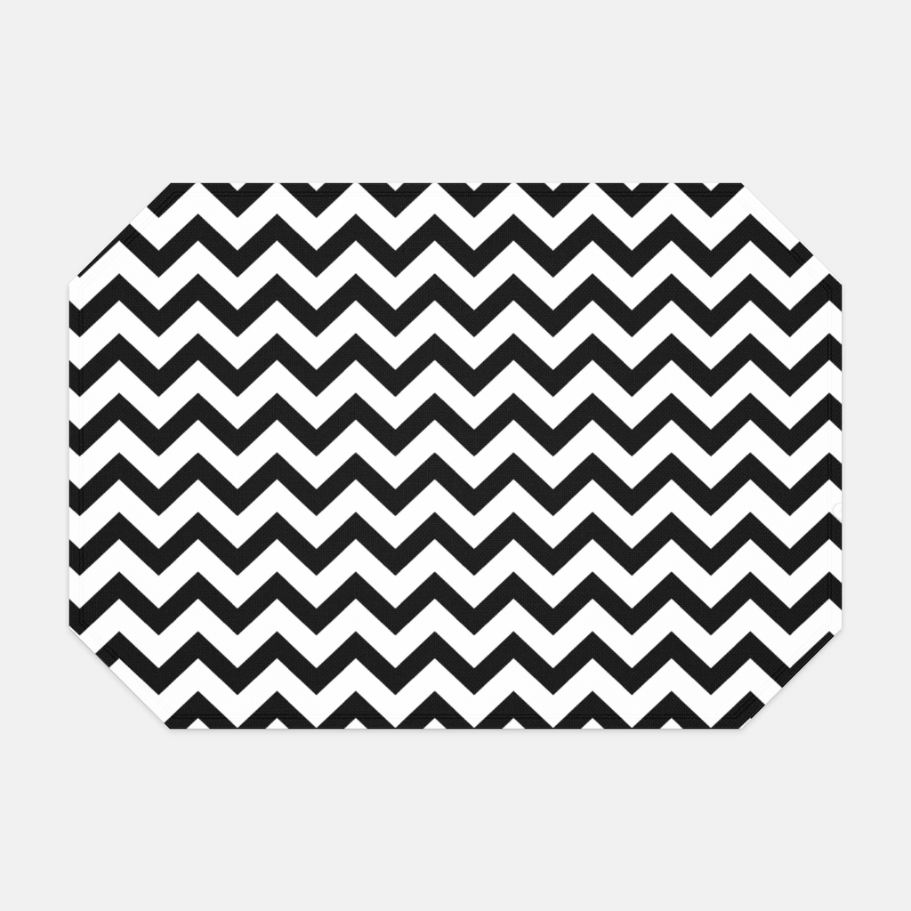 Black & White Chevron Placemat