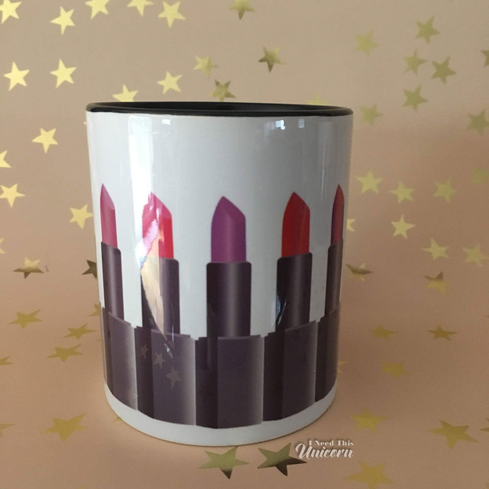 Luxury Lipstick Collection Accent Mugs