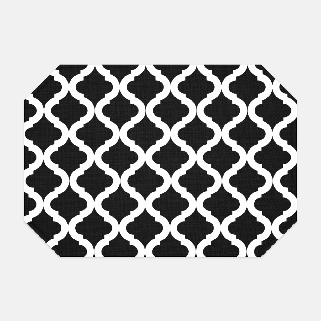 Black and White Lattice Placemat