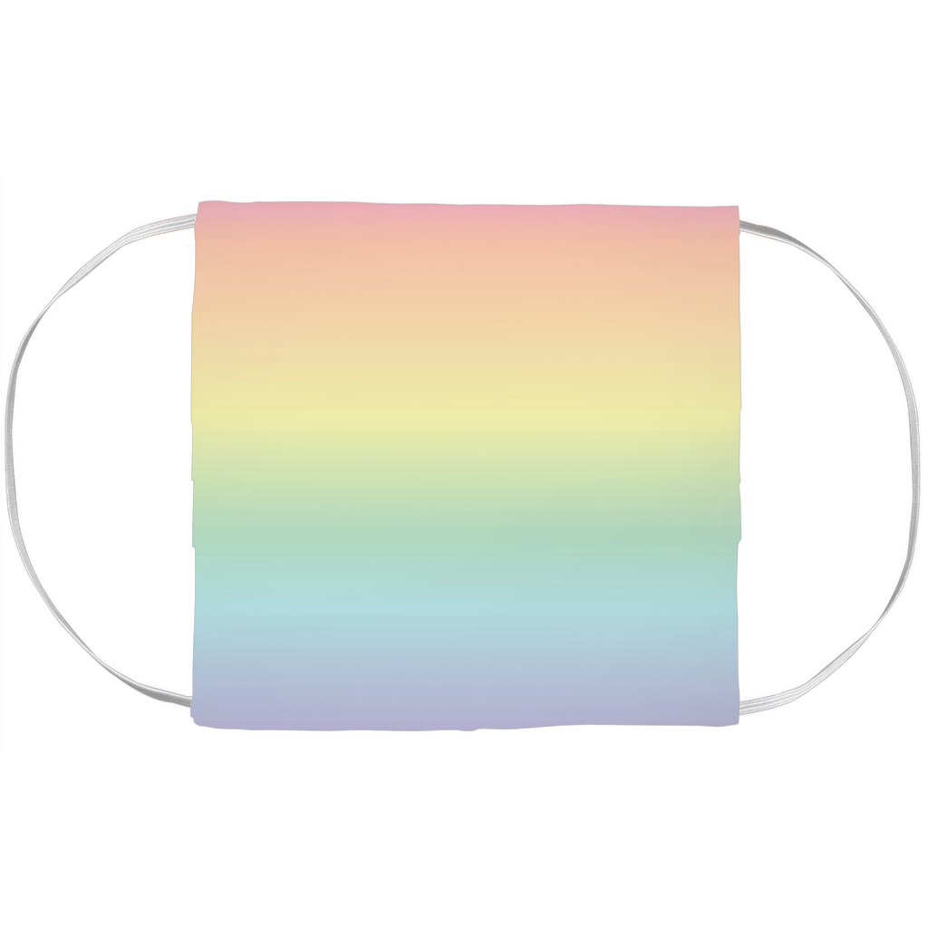 Pastel Rainbow Face Mask Cover