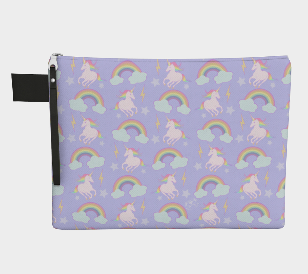 Unicorns & Rainbows Carry-All Makeup Pouch