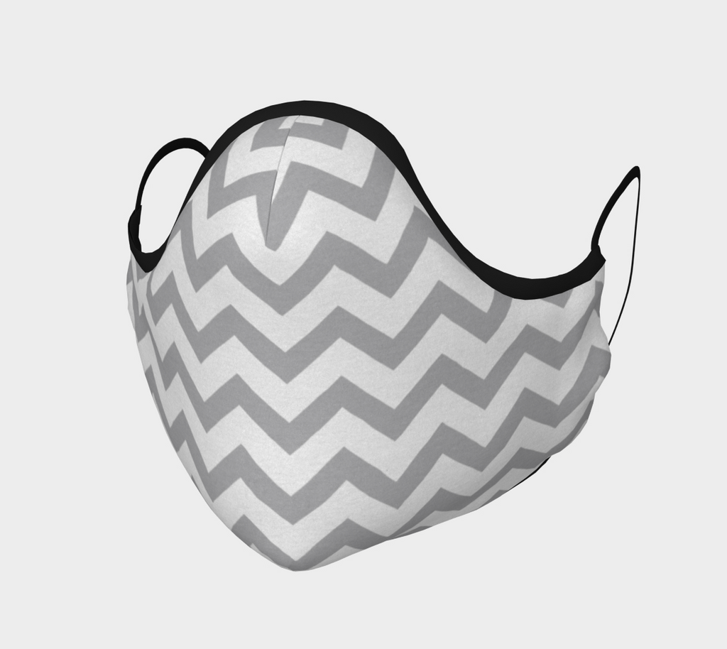 Gray Chevron Face Mask