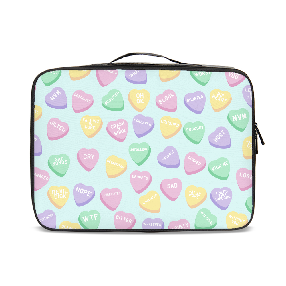Negative Candy Hearts Jetsetter Travel Case