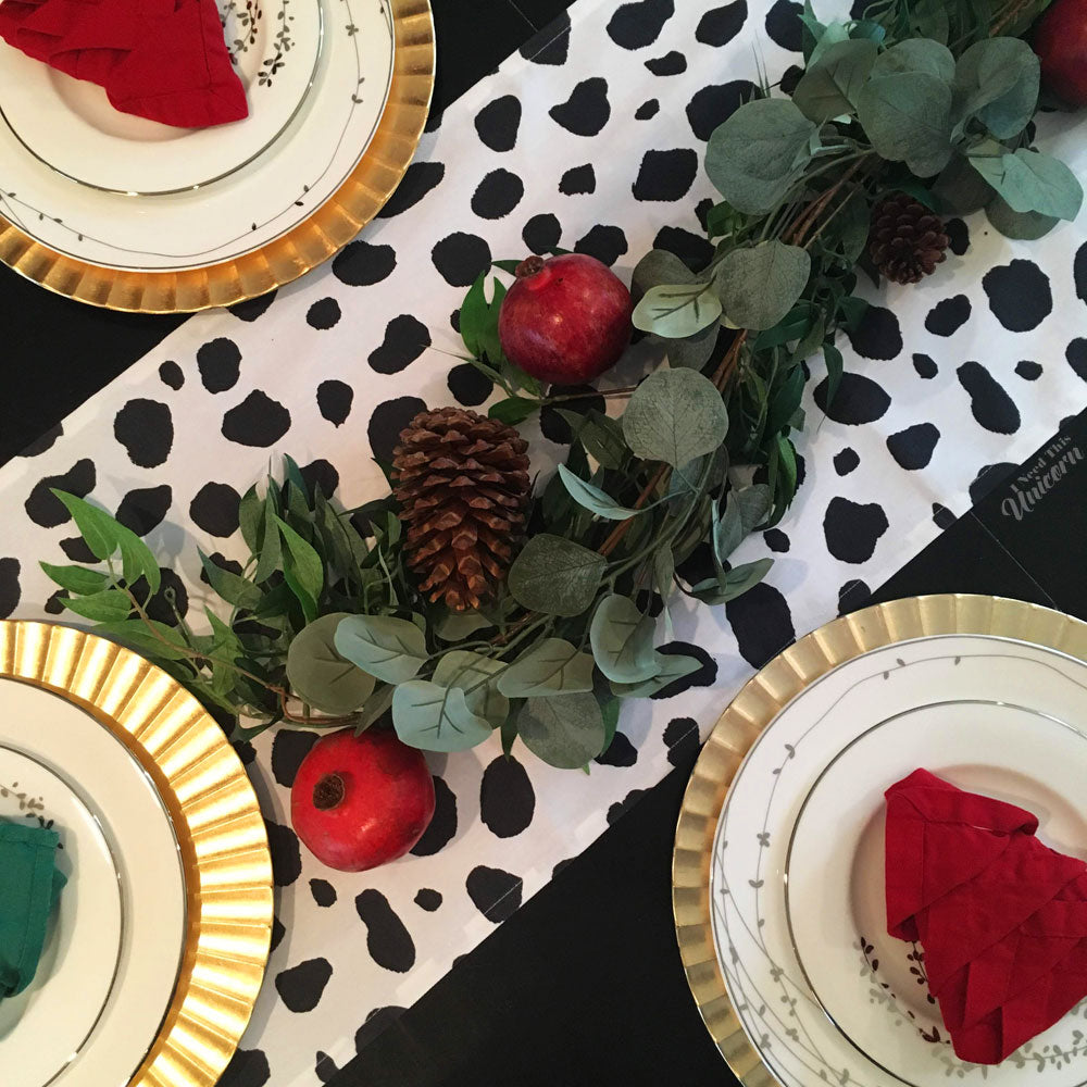 Dalmatian Table Runner
