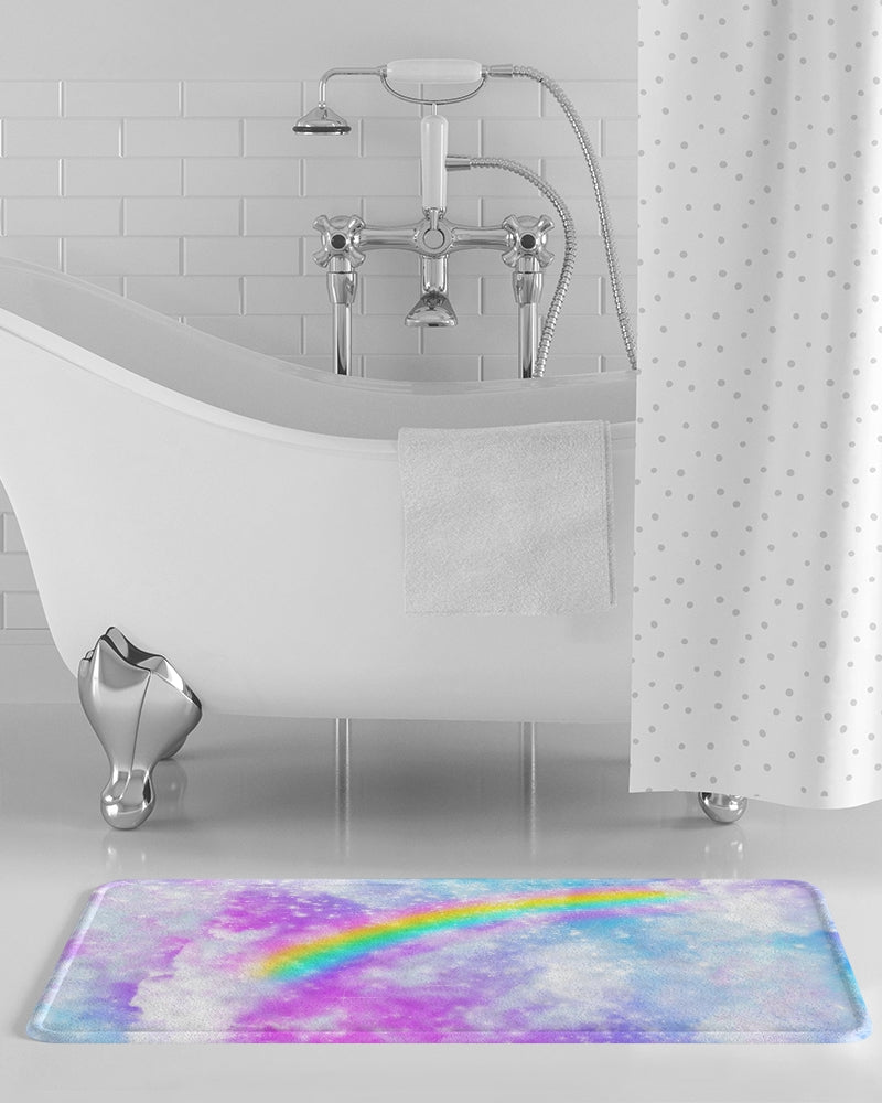 Pastel Galaxy Bath Mat