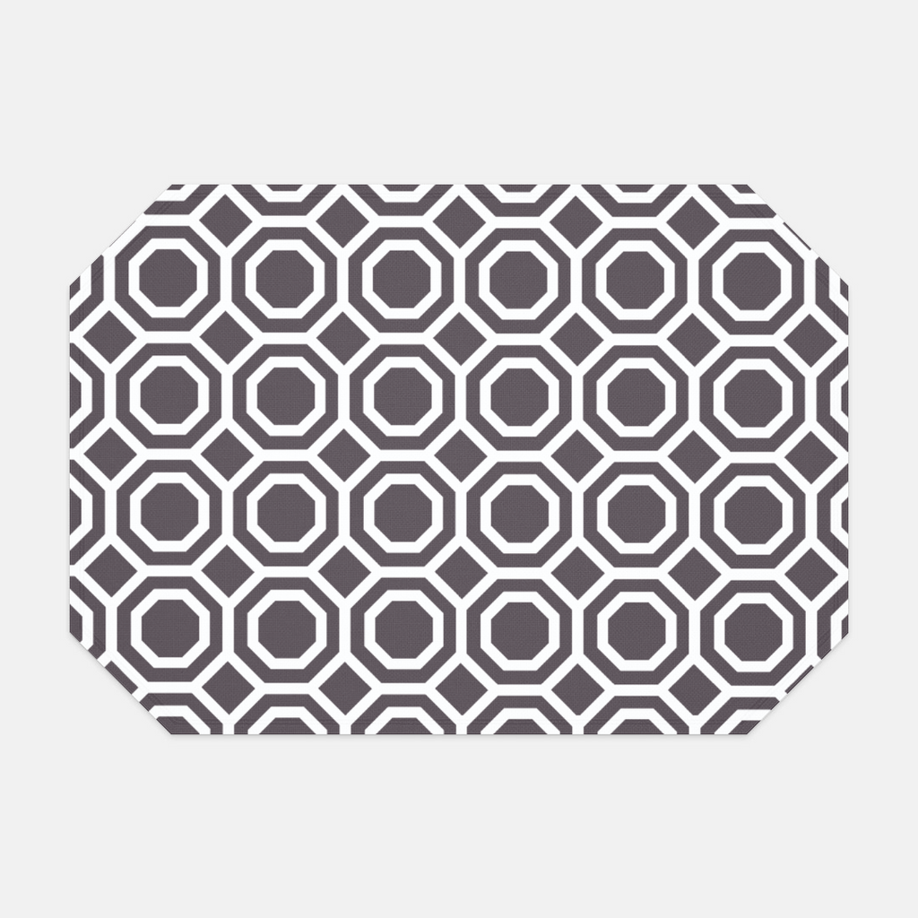 Hostess Dark Gray Octagon Placemat
