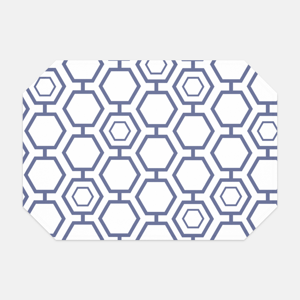 Dove Blue Hexagon Placemat
