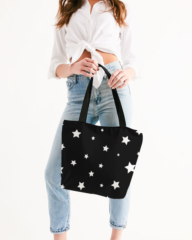 Starry Canvas Zip Tote