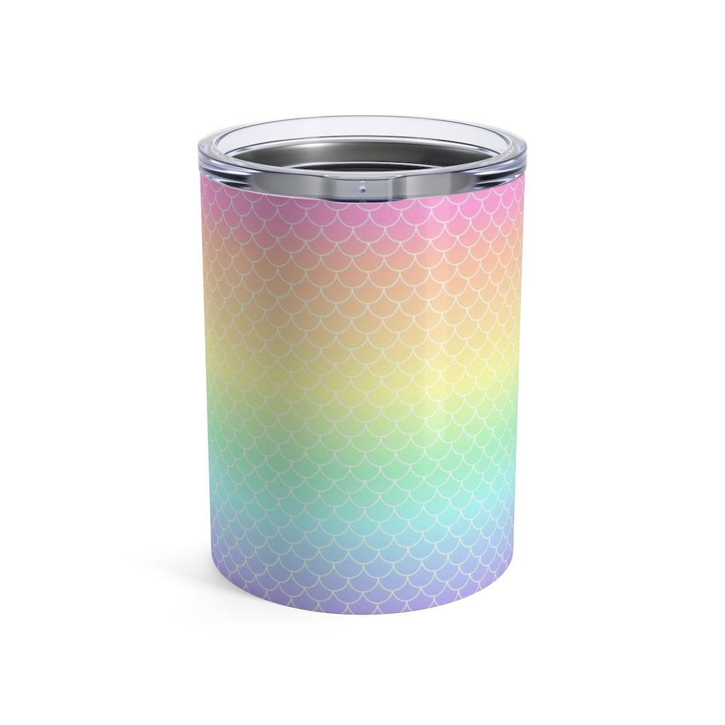 Rainbow Mermaid Scale Tumbler 10oz