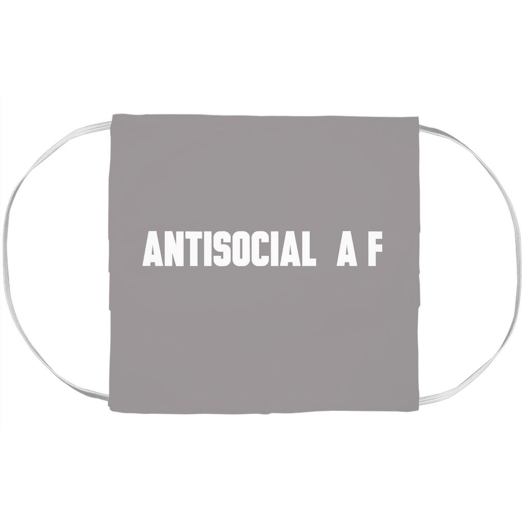 Antisocial A F Face Mask Cover