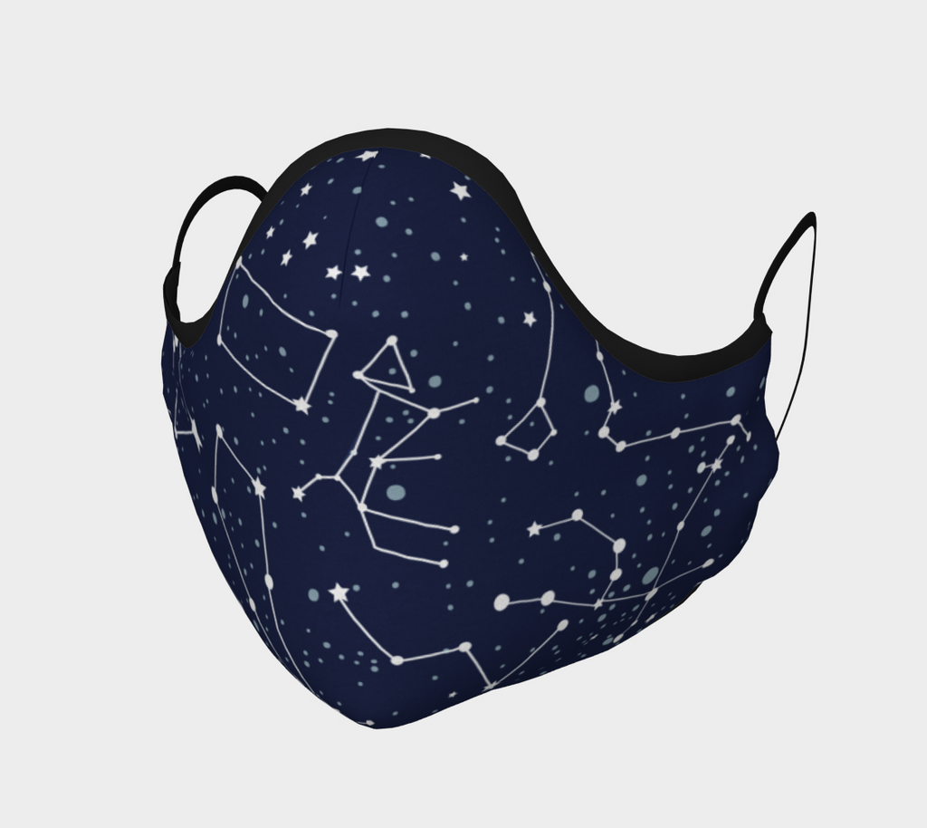 Starry Constellations Face Mask