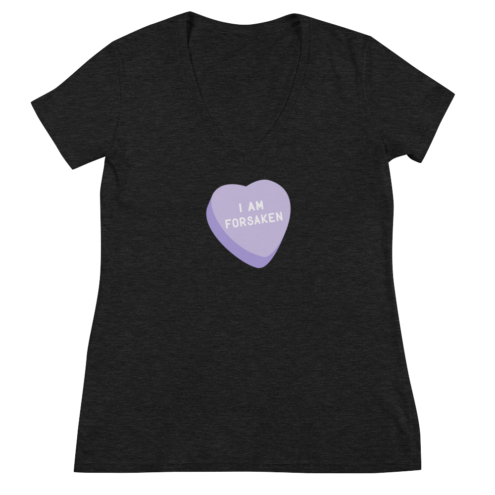Forsaken Candy Heart Women's V-Neck T-Shirt