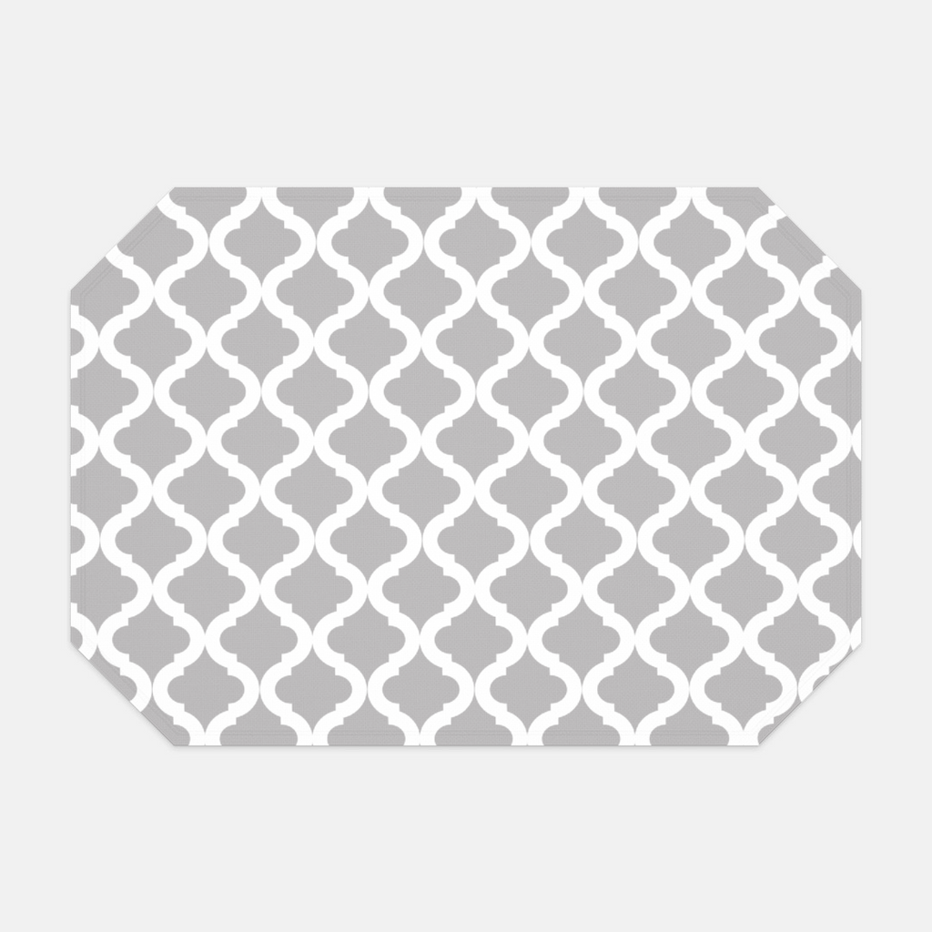 Gray Lattice Placemat