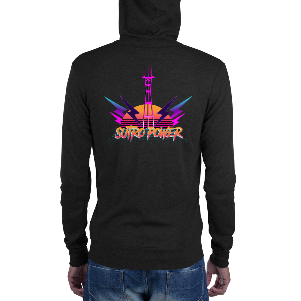 Sutro Power Ultra 80's San Francisco Zip Hoodie
