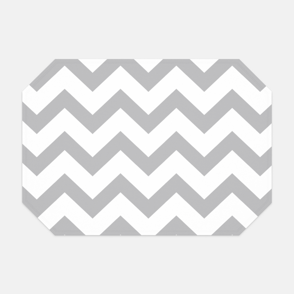 Gray Chevron Placemat