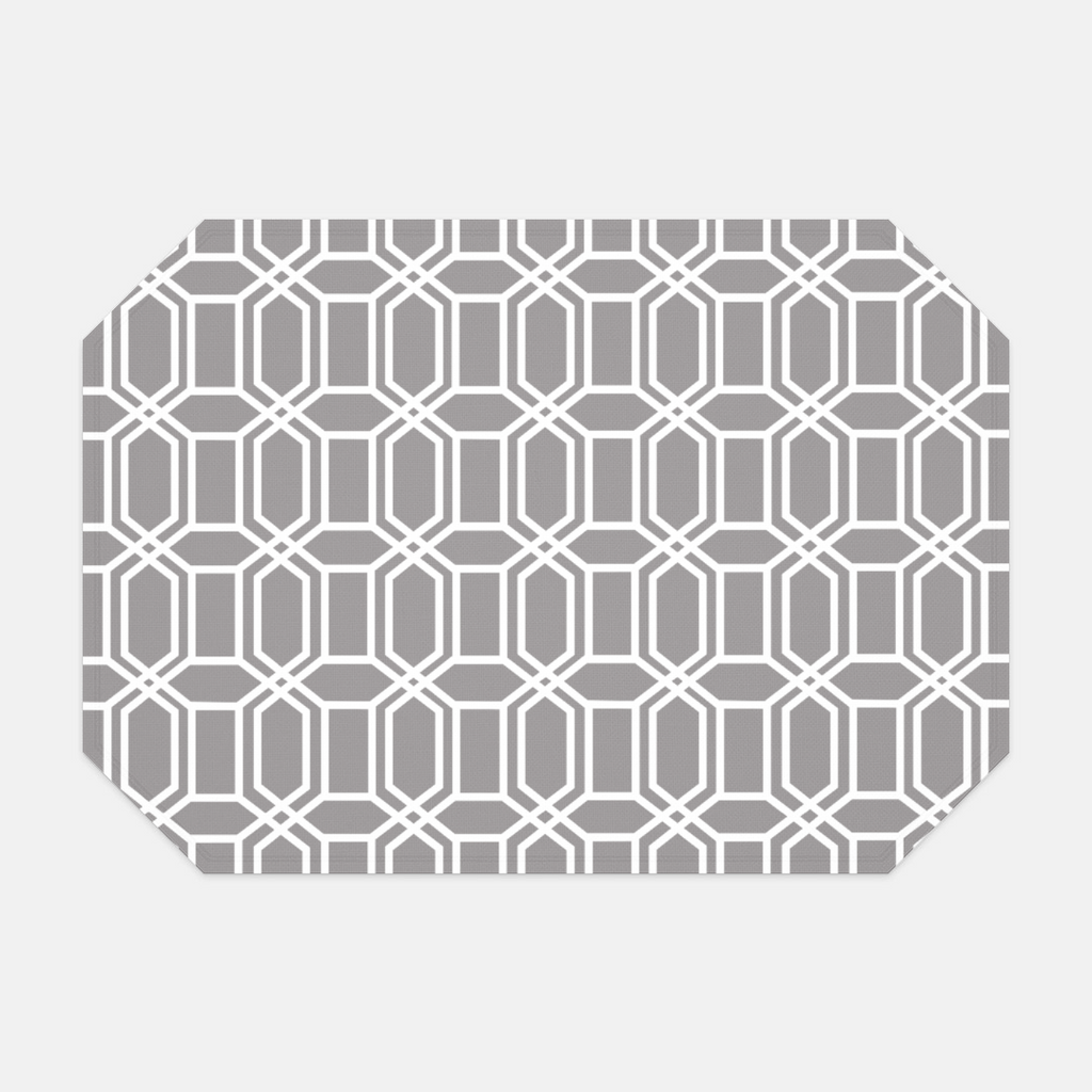 About Town Gray Hexagon Placemat
