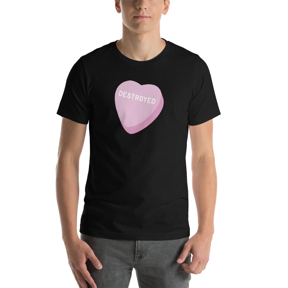Destroyed Candy Heart Men's T-Shirt