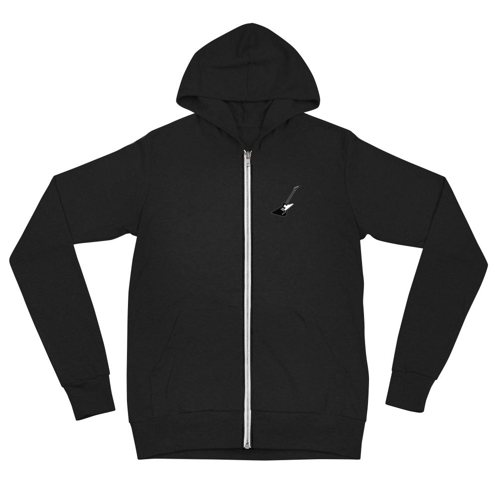 Metal Unicorn Zip Lightweight Hoodie