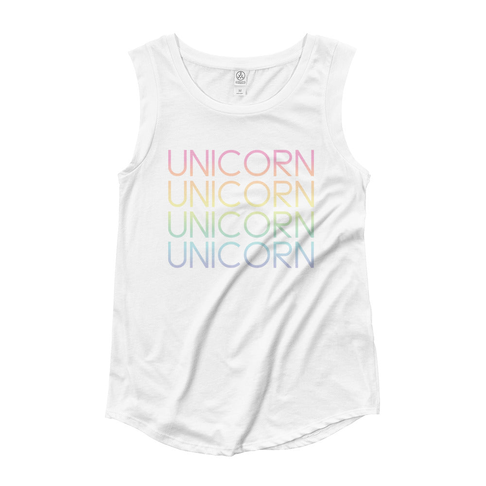 Unicorn Times Four Muscle Tank